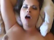 Brunette Riding Cock