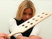 Ebony spanking