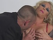 Busty blonde caught masturbating