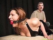 Gagged and punished