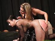 Lesbian bondage and spanking