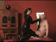 Domme and her aged slave
