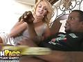 Blonde Mom Enjoys Black Pole