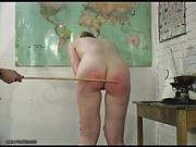 Nude schoolgirl caned