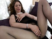 Pantyhosed lady