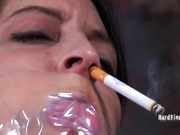 Cigarette and cock fro humiliation
