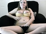 Chubby big tit teen in underwear