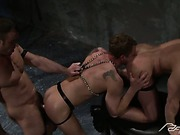Brutal Gay Threesome