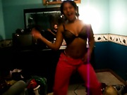 Black girlfriend sexy dancing
