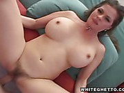 Big racked milf with hairy snatch
