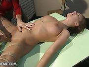 Tied up lesbian slave Brigita