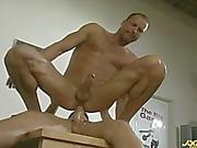 Gay teacher Kent Larson rides student's cock
