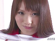 Hairy asian Suzu Minamoto plays with vibrator