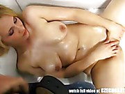 Amateur blonde with natural tits gets anal fucked