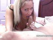 Hot milf next door Celeste sucks and fucks