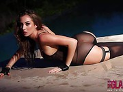 Chloe Goodman Goes For A Naughty Swim