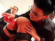 Boardroom orgy lubed by new product