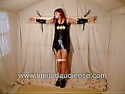 Red-haired slave girl in shirt black