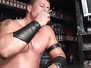 Aaron Giant jerks and smoking