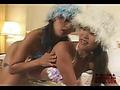 Two oriental lesbians spend